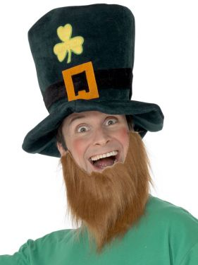 Leprechaun St Patricks Day Fancy Dress Hat & Beard